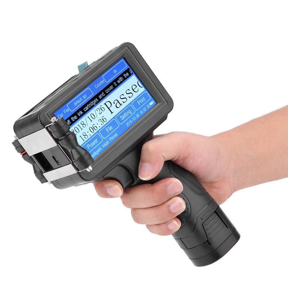 Ręczne drukarki atramentowy plastikowa butelka data ważności maszyny drukarskiej drukarka daty dla pakowarka