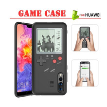 Capa retrô de jogos para samsung note 10 s10 plus, huawei p30 mate 20 pro mate 30 p smart 2019 capa de gameboy tetris etui