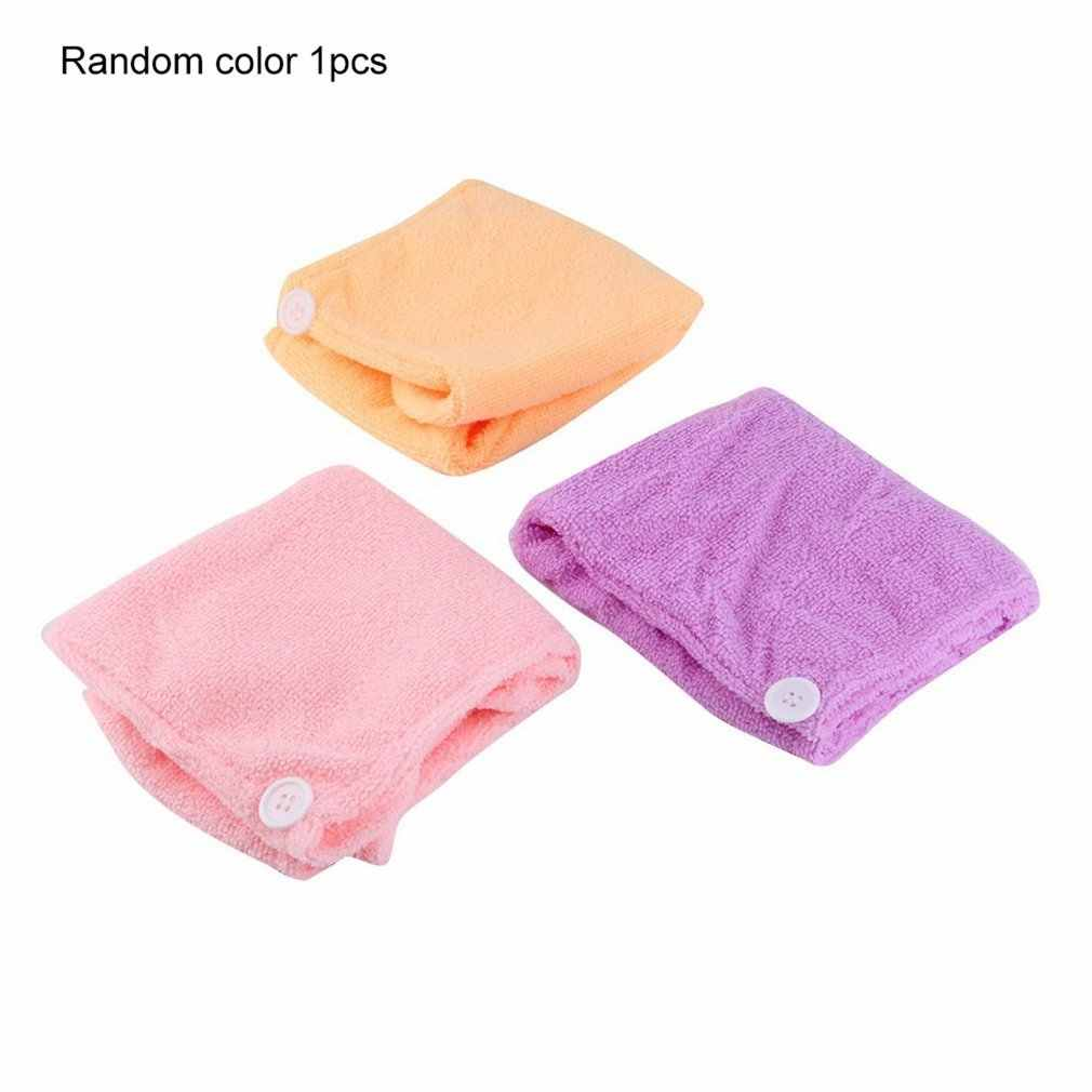 3 Colors Quickly Dry Hair Hat Womens Girls Ladies Cap Bath Accessories Drying Towel Head Wrap Hat Bath Accessories