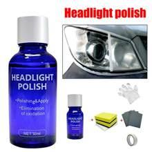 10ml carro farol manutenção limpo recauchutagem agente farol lente restorer reparação de polimento líquido anti-risco carro accessori