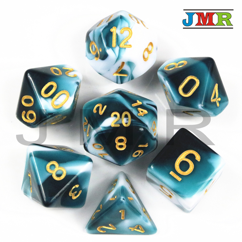 High Quality Set Of D4 D6 D8 D10 D12 D20 Game Dice For Playing Dados De Rpg
