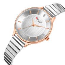 цена на CURREN Women Watches 2019 Newest Ladies Watch Rhinestone Wristwatch Silver Stainless Steel Business Quartz Watches Waterproof