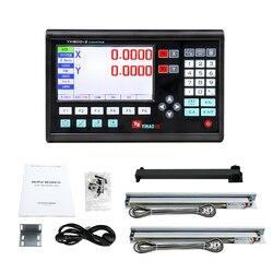 Dro цифровая индикация для токарного станка, фрезерные станки с ЧПУ, линейная оптическая линейка от 50 мм до 1000 мм, 2 оси, новинка