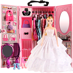 Image 2 - DIY miniature dollhouse doll house doll closet with doll house furniture toys for children Christmas gift