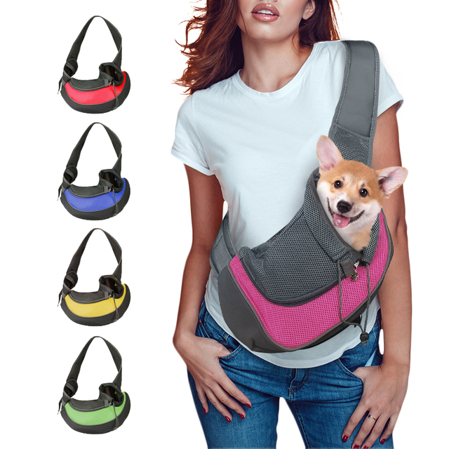 Pet Puppy Carrier S M Outdoor Travel Dog Shoulder Bag Mesh Oxford Single Comfort Sling