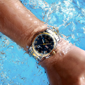 BELUSHI Business Mens Watches Famous Brand Luxury Big Dial Male Watch Waterproof Quartz Gold Watch Men montre homme 2021 6