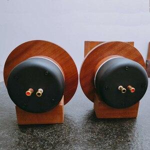Image 4 - Çift 2 adet MeloDavid ses titanyum Ti dome hunili yüksek frekanslı hoparlör 98db + ahşap destek