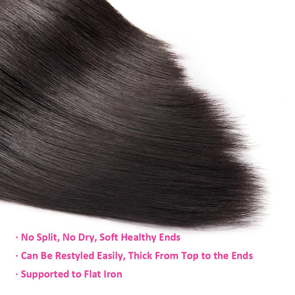Ha8b57d6abc56484891bff707f6212c35o Cexxy Straight Bundles With Closure Brazilian Hair Weave Bundles With Closure Human Hair Extension Long Hair 8-34 36 38 40Inch