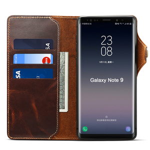 Image 2 - Genuine Leather For Samsung S20 Ultra Note 20 10 Plus 9 Case Wallet Flip Case for Samsung Galaxy S8 S9 S10 Plus Note 8 9 10 Case