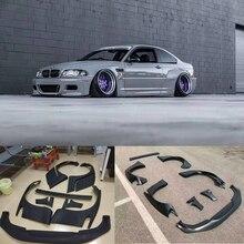 Автомобильный Широкий обвес для BMW E46 2 двери 4 двери FRP стекловолокно бодик Крышка передняя губа заднее крыло багажник спойлер ракета Банни запчасти