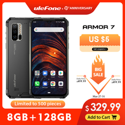 Ulefone 鎧 7 IP68 頑丈な携帯電話 2.4 グラム/5 グラム wifi エリオ P90 8 ギガバイト + 128 ギガバイトアンドロイド 9.0 48MP カム 4 4g lte グローバルバージョンのスマートフォン
