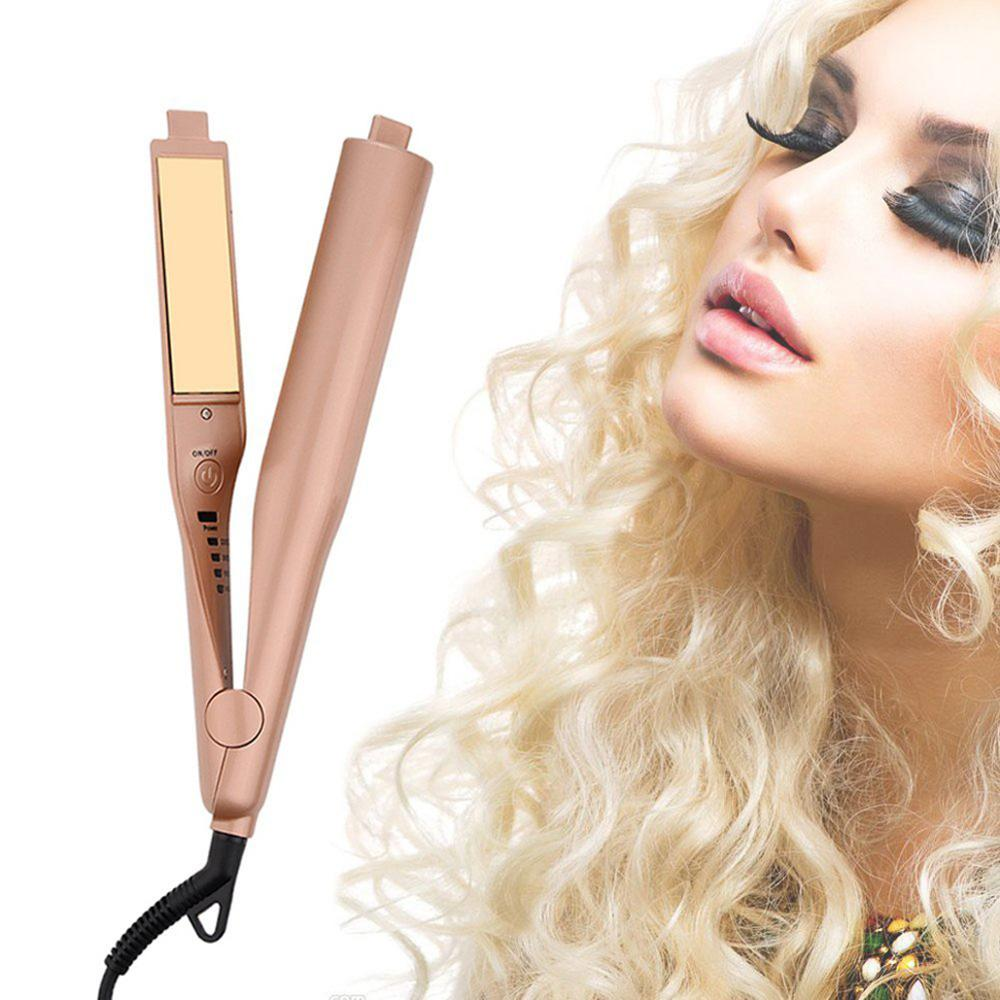 2 in 1 Electric Hair Straightner Curler Portable Perm Wave Machine Curling Flat Iron Hair Tongs Styling Tools Professional