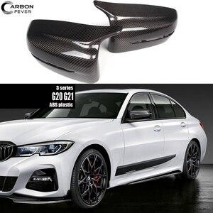 Для BMW 2019 + 3 серии G20 G21 углеволоконная Обрезка замена крышки зеркала двери