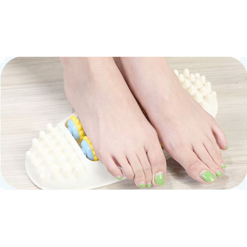 Plastic Foot Roller Massage Reflexology Relax Relief Massager Spa Gift Anti Cellulite Foot Relaxing Massager Relaxing Supplies