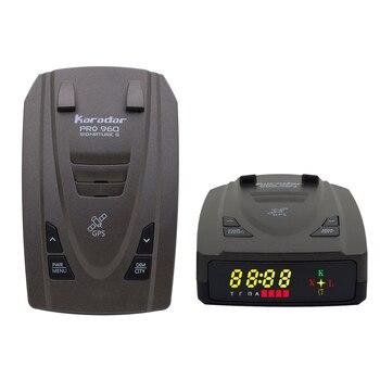 Karadar 2021 New Car Anti Radar Detector with GPS 2 in 1 Signature Mode Russian Alarm Warning LED Identify X CT K La CORDEN radar detector suction cup and car charger dc3 5 port for karadar anti radar detector