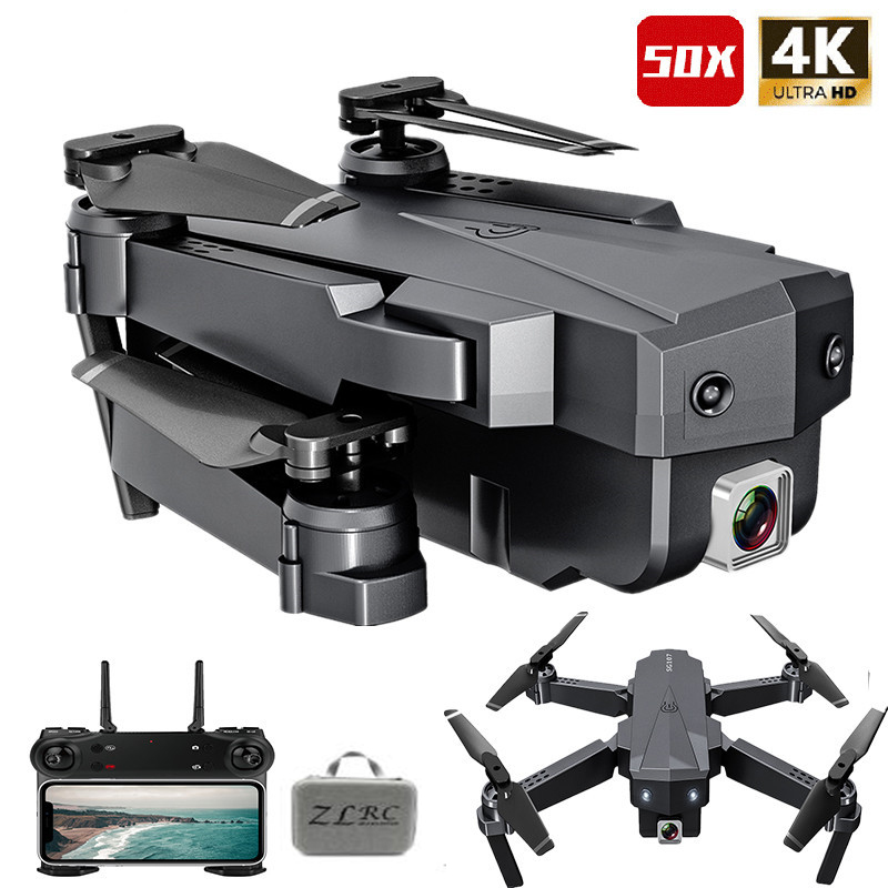 Best Drone 4K with HD Camera WIFI 1080P Camera Follow Me Quadcopter FPV Smart Drone Long Battery Life Altitude Hold RC 1