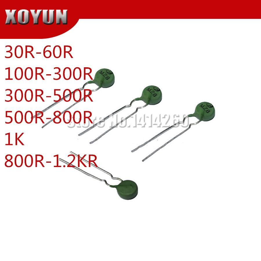 10pcs PTC Thermistor MZ8 8MM 30R-60R 100R-300R 300R-500R 500R-800R 1K 800R-1.2KR