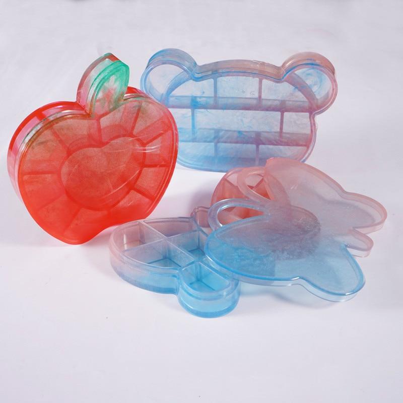 Trinket Box Silicone Mold Butterfly Bear Dish Mold Tray Mold Kawaii Epoxy Resin Art Supplies Resin Craf Silicone Mold