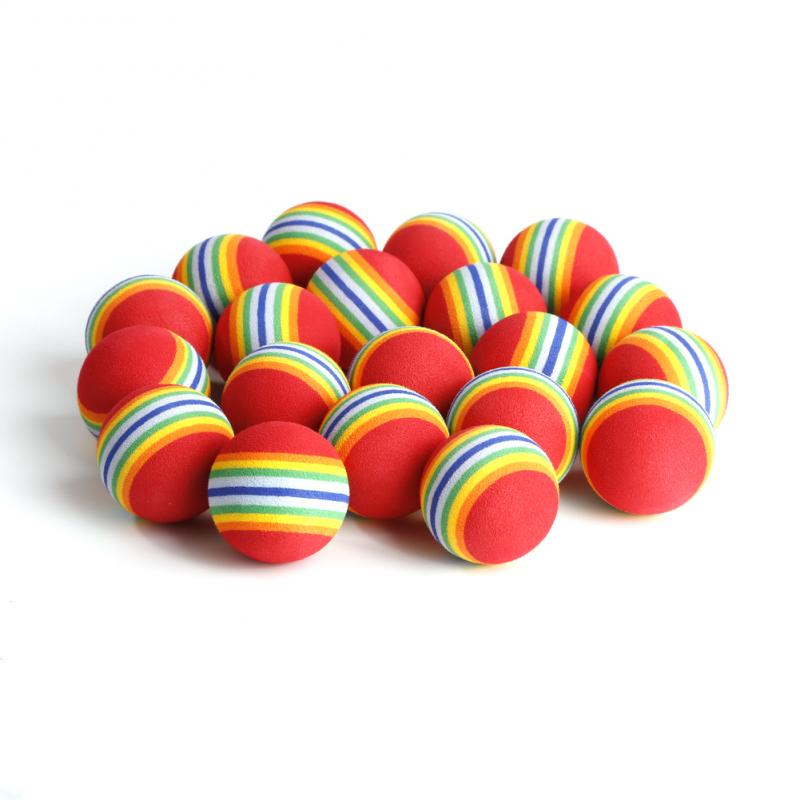 20pcs/set Soft And Safe 20Pcs 38mm  Golf Training Balls Indoor Outdoor Practice Training Aids Training Golf Practice Balls Gifts