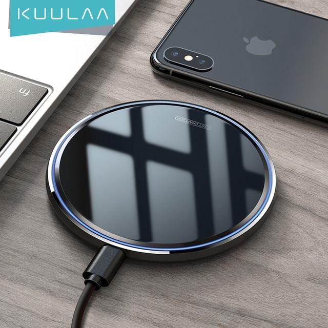KUULAA אלחוטי מטען עבור iPhone 11 X/XS XR 8 בתוספת אלחוטי טעינת pad עבור xiaomi mi 10 פרו 9 samsung מהיר אלחוטי מטען