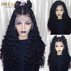 Image 2 - Invisible Fake Scalp Lace Wig 13*6 Lace Front Curly Human Hair Wig For Women Pre Plucked HD Transparent Lace Wig 150% Density
