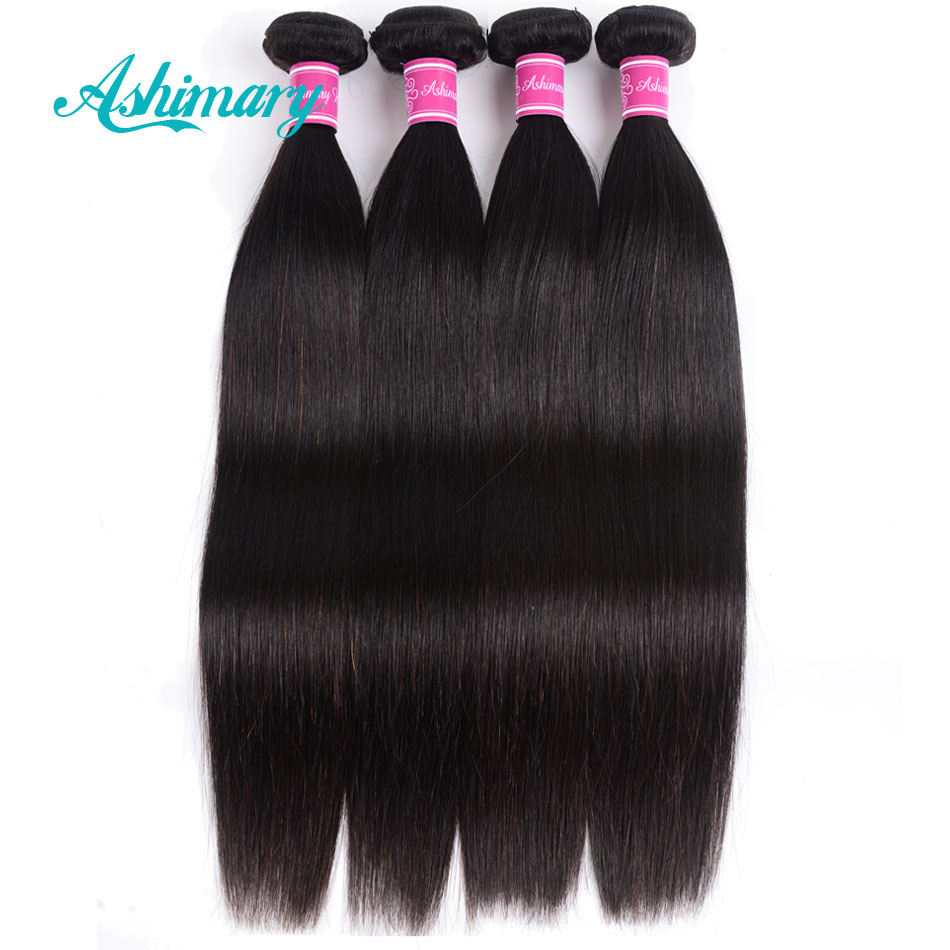 Ashimary Malaysian Straight Hair 13x4 Lace Frontal Closure with Bundles Remy Human Hair Bundles with Lace Frontal Low Ratio