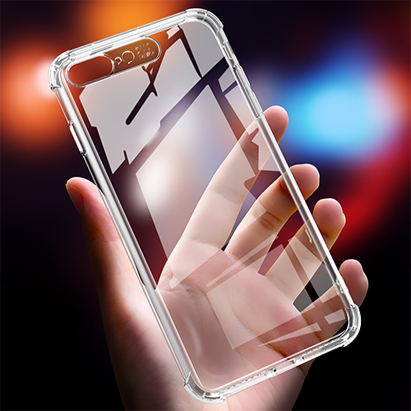 Luxury Clear Soft TPU Case For iPhone X XS 8 7 6 s Plus Shockproof Silicone Cover