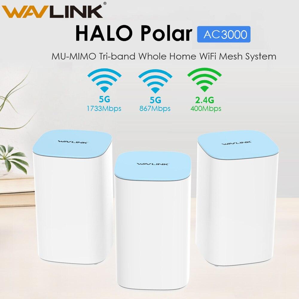 Wavlink AC3000 MU-MIMO Tri-bande Sans Fil WiFi Routeur 2.4G + 5Ghz Toute La Maison WiFi Système De Maille Touchlink Gigabit Wan/Lan Répéteur