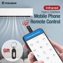 Podogear dla interfejsu TYPE-C inteligentna kontrola aplikacji telefon komórkowy pilot zdalnego sterowania bezprzewodowe urządzenia na podczerwień Adapter IR USB