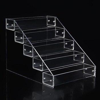 Organizador de maquillaje portátil transparente de 7 niveles, caja de almacenamiento, organizador de pintalabios, organizador de esmalte de uñas, organizador de soporte de pantalla