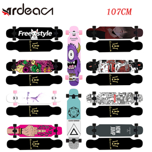 ADREA skateboard long board MS400 107cm/42in longboard 7in skate aluminium truck maple deck patins grip tape Russina Maple wood