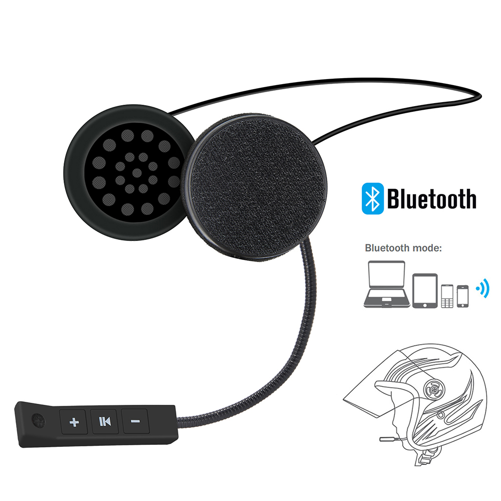 Motorcycle Helmet Headset Wireless Bluetooth Headphone Speaker Handsfree Music Automatic Call Answer Hands-Free BT-08