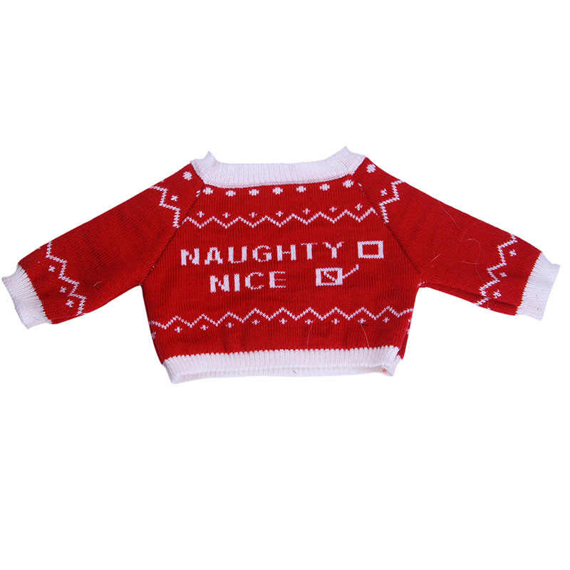 18 インチのアメリカの人形の服 3 個赤帽子 + セーター + スカート服セットフィット 43 センチメートルベビーブロン & Rebron 人形アクセサリーおもちゃ