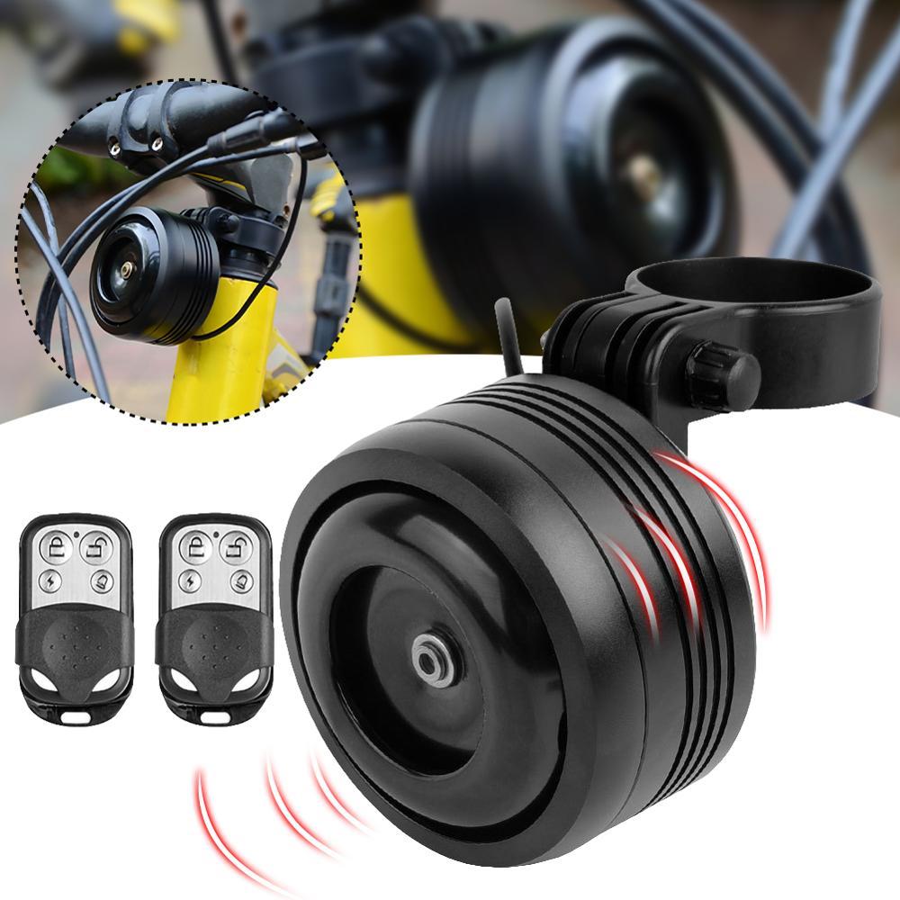 125db usb de carregamento 1300 mah sino de bicicleta chifre elétrico com alarme de som alto para m365 mtb bicicleta guiador segurança anti-roubo alarme