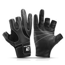 Наружные Нескользящие износостойкие рыболовные перчатки с 3 вырезами для велосипедной рыбалки