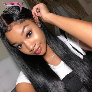 Image 5 - Elva שיער 370 תחרה פרונטאלית פאה מראש קטף מזויף קרקפת פאה ישר 13x6 תחרה מול שיער טבעי פאות עבור שחור נשים רמי שיער פאה
