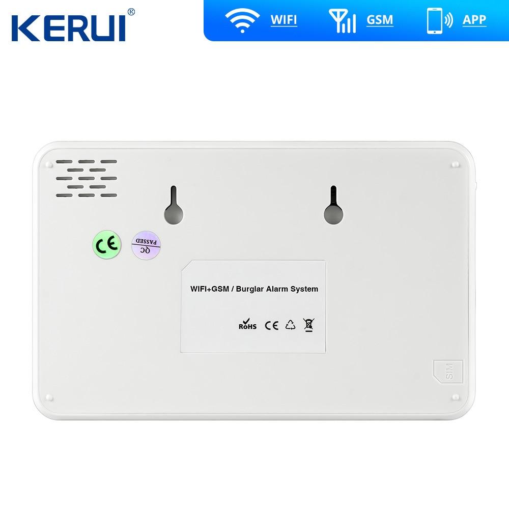 Kerui W18 Drahtlose Wifi GSM Alarm IOS Android APP Control GSM SMS Wifi Hause Einbrecher Alarm System Pet Immun Bewegung pet Bewegung
