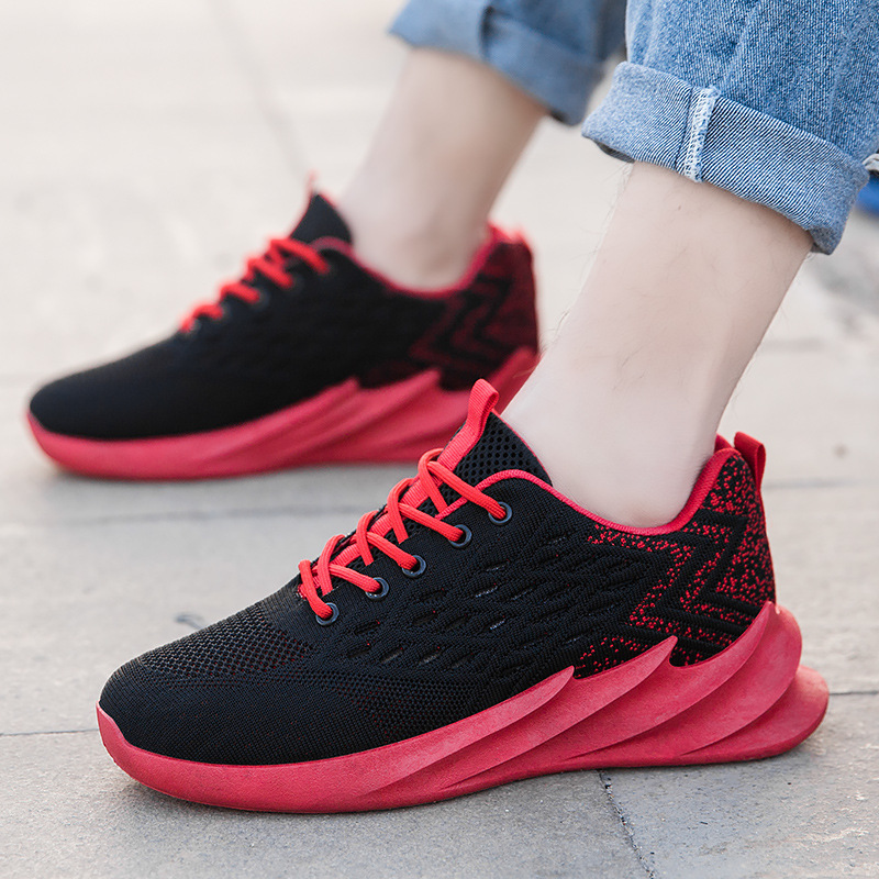 Four Seasons Fei Fei Fei Ventilation Male Shoe Personality Blade Motion Casual Shoes 2020 Student Running Shoes Net Shoes