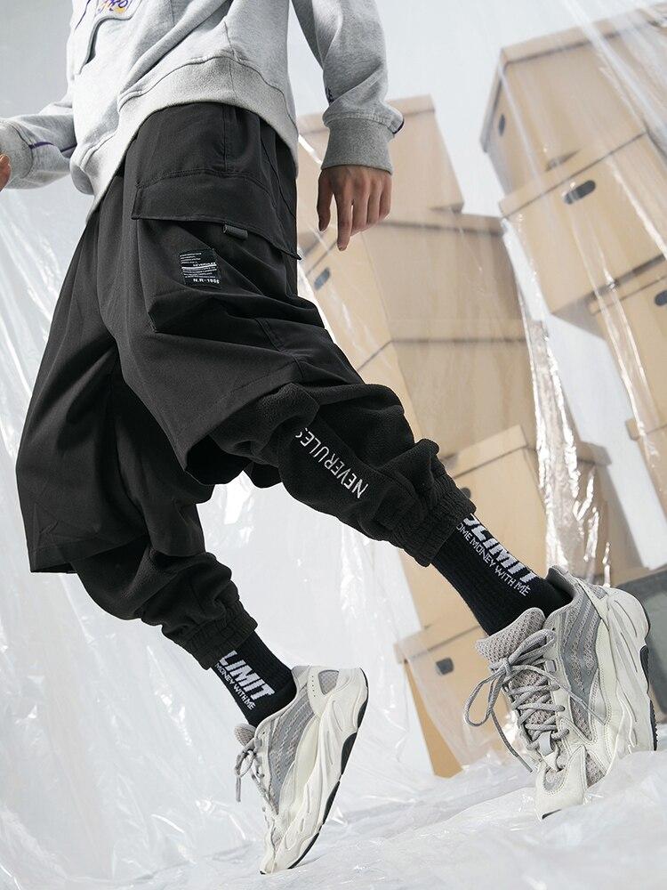 Suede Sweatpants Joggers Mens Winter Keep Warm Solid Pants Streetwear Men Harem Pants Lightweight Cotton Sweatpants NN50CK
