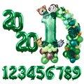 Цифровые воздушные шары на день рождения, воздушные шары для тропической вечеринки с конфетти, латексные воздушные шары в стиле джунглей и ...