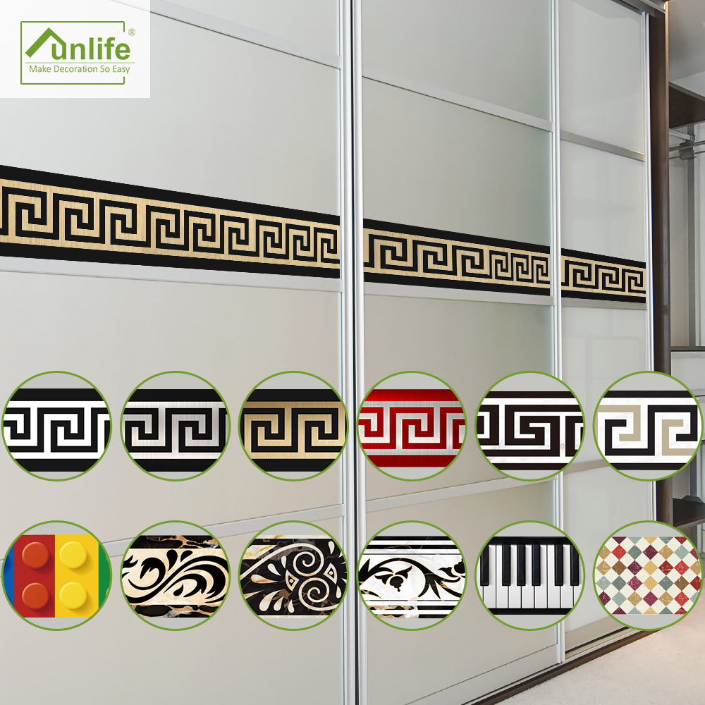Ultimate SaleFunlife Wall-Border Stickers Removable Geometric-Pattern Home-Decors Design Luminous