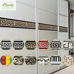 Funlife 10*200cm design original padrão geométrico diy removível impermeável luminosa pvc fronteira adesivos para decoração de casa
