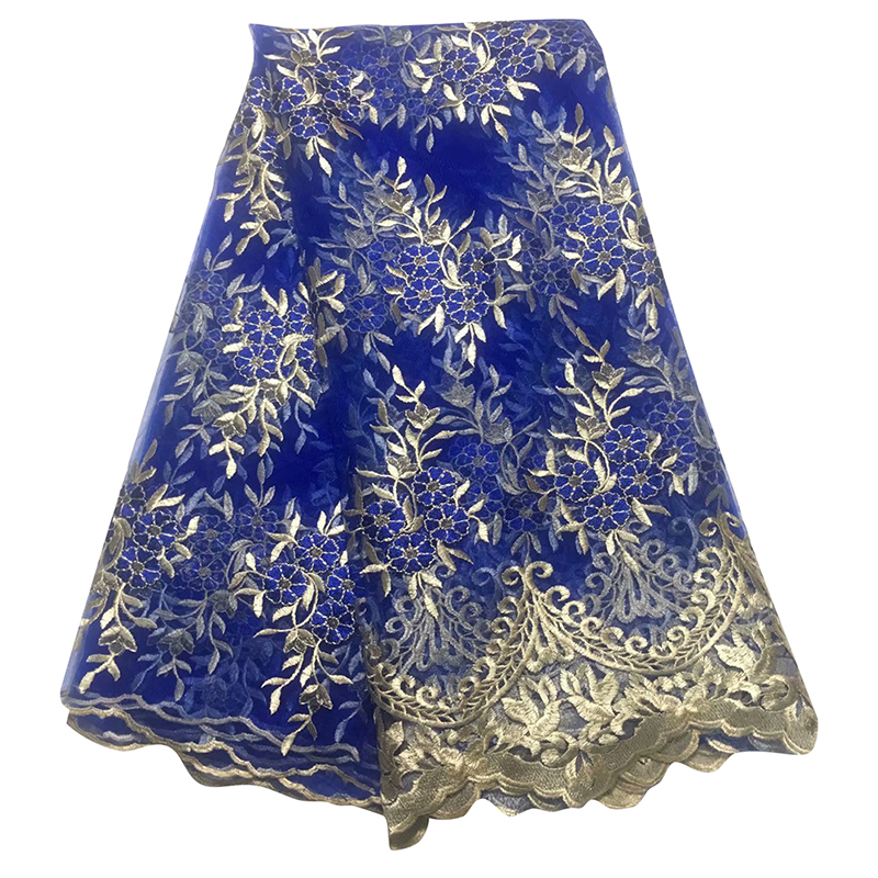 African Tulle Lace Fabric 2020 High Quality Nigerian Embroidery Swiss Voile Lace Fabric For Women Evening Dress Salouva Broderie