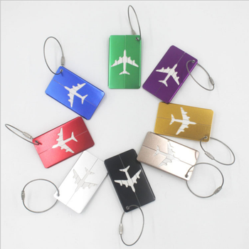 Aluminum luggage tag boarding pass pure metal luggage travel luggage belt strap label luggage checked baggage box label фото