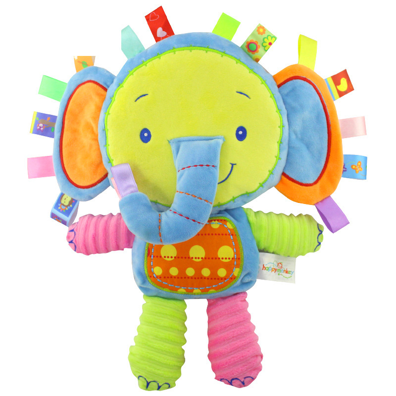 9 Styles Baby Toddler Plush Rattles Toys Appease Doll Infant Hand Bells Newborn Elephant/monkey/rabbit Animal Soft Cotton Toy