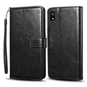 Image 5 - Case For Xiaomi Redmi 7A Case Cover Soft Silicone PU leather flip For Coque Xiomi Redmi 7A Phone Case with Card Holder Magnetic