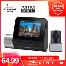 70mai A500 Dash Cam Pro Plus 1944P Gps Adas Auto Dash Camera Dual Sight Cam 70mai Plus A500S Auto dvr 24H Parking