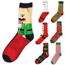 Мужские хлопковые носки в стиле Харадзюку; зимние домашние теплые носки средней длины; мужские зимние теплые Дышащие Носки с рисунком; Meias skarpetki