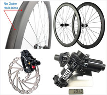 Gravel Disk Bicycle Carbon Wheels 700C Tubeless 38mm 45mm 50mm Depth 25mm Width Road Bike Disc Brake Axle Bicycle Frame