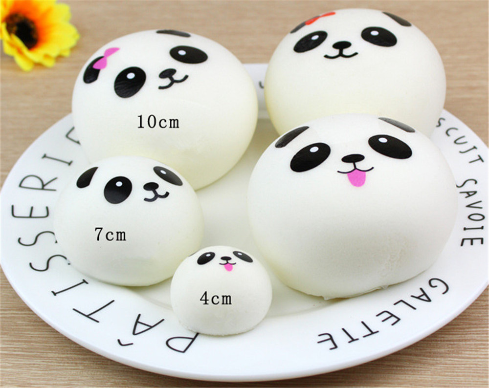 Toy Phone-Straps Jumbo Bread-Cake Gift Soft-Cream Fruit Squishy Reliever Cute Banana title=